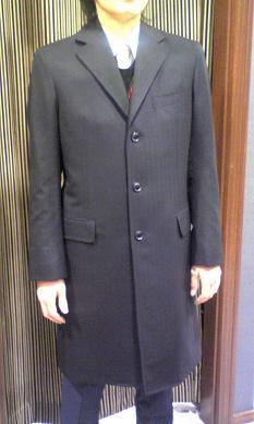 スーツ生地のコート
