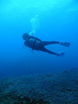 一昨年に行った、沖永良部島でのダイビング風景です。